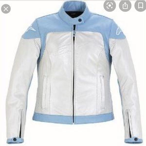 Alpinestars Blue & White Motorcycle Jacket Medium